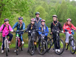 Scouts get on their bikes to fundraise for summer camp