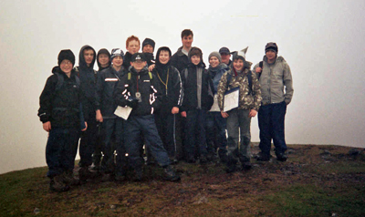 Explorer Scouts from Lenzie on Dumgoyne