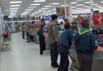 Scouts bag packing