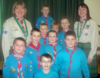 Heather & Morag with 35th Glasgow Beavers