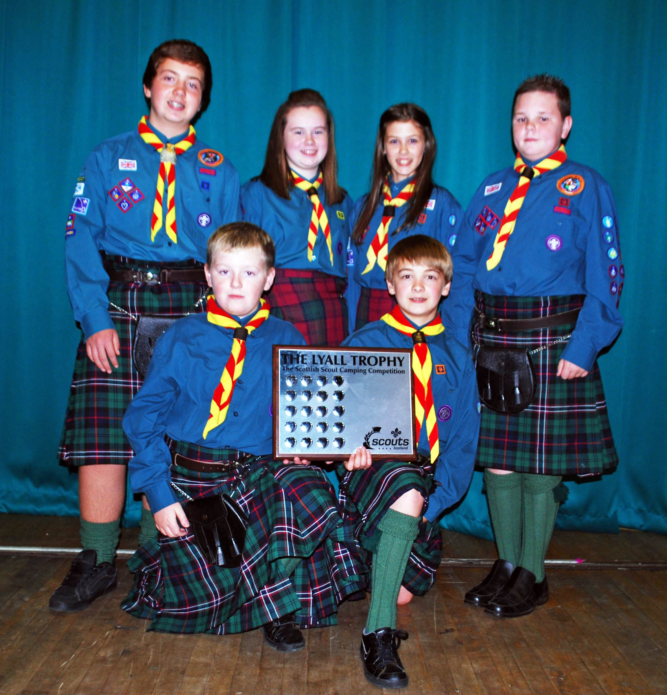 Winners of the 2011 Blacks of Greenock National Camping Competition