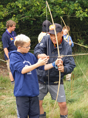 Scouts from East Kilbride on activities at Danish Bla