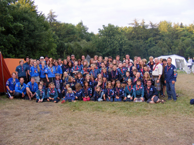 Scouts from East Kilbride with overseas Groups at Danish Bla