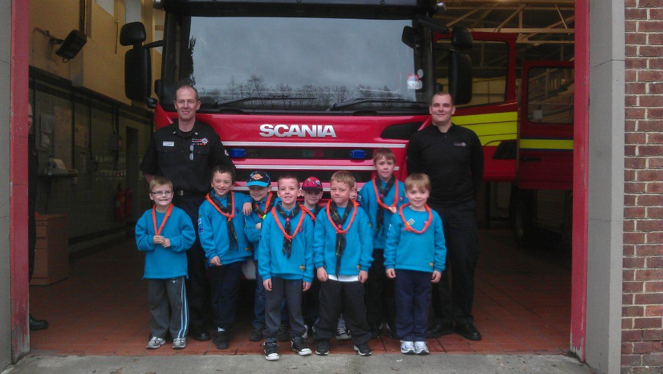 Beavers and fire engine